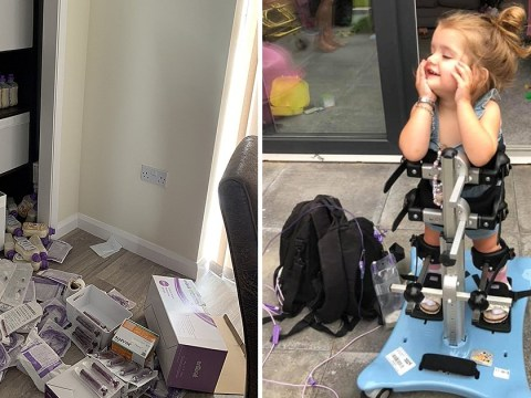Thieves steal disabled toddler's life saving medical kit while family is at hospital