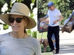 Desperate Housewives' Felicity Huffman emerges since being sentenced to time in prison