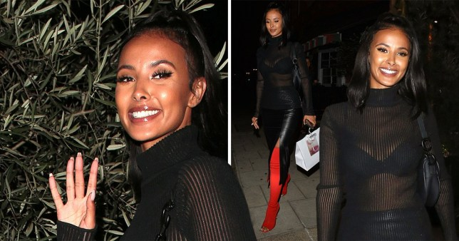 Maya Jama has no problem getting over Stormzy as she beams through London Fashion Week