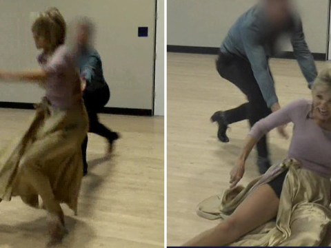 Watch the moment Christie Brinkley breaks her arm while rehearsing for Dancing With The Stars