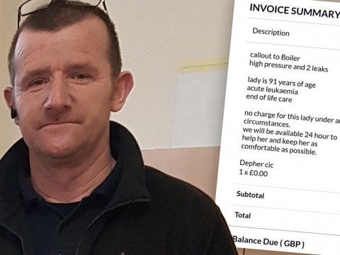 Plumber refuses to take payment from pensioner, 91, and gains hero status