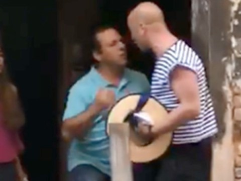 Tourist knocks gondalier's hat off and headbutts him over selfie