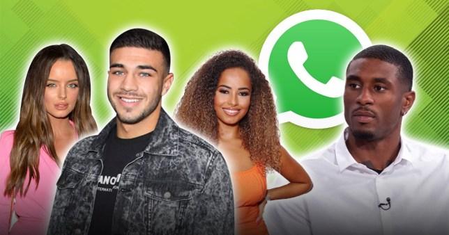 Love Island WhatsApp group