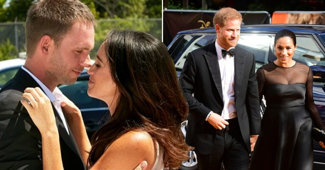meghan markle,suits co-star patrick j adams and prince harry