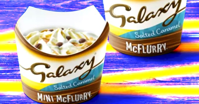 The new galaxy caramel mcflurry