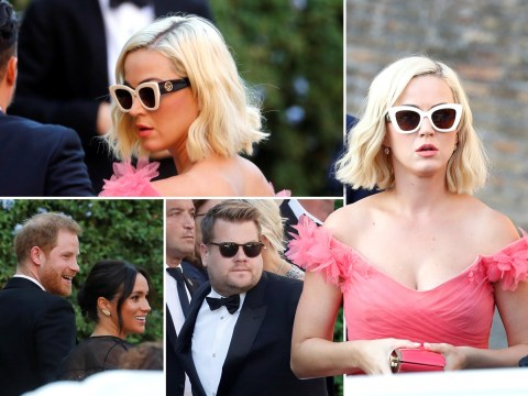Katy Perry, Orlando Bloom and James Corden join Harry and Meghan for Misha Nonoo's wedding
