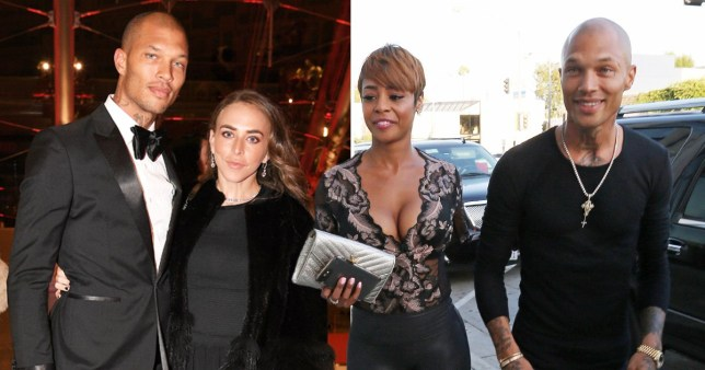 Jeremy Meeks with Chloe Green, and another picture showing him with Erica Peeples