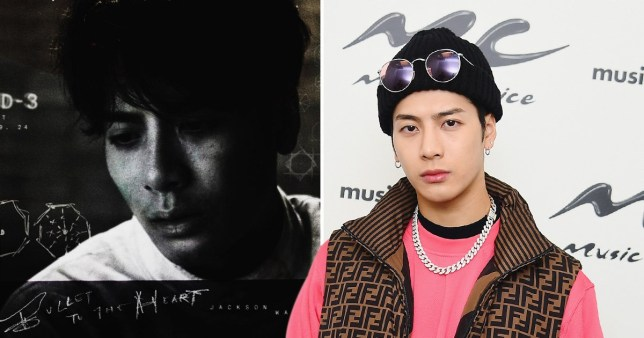 Jackson Wang, and his Bullet To The Heart album cover