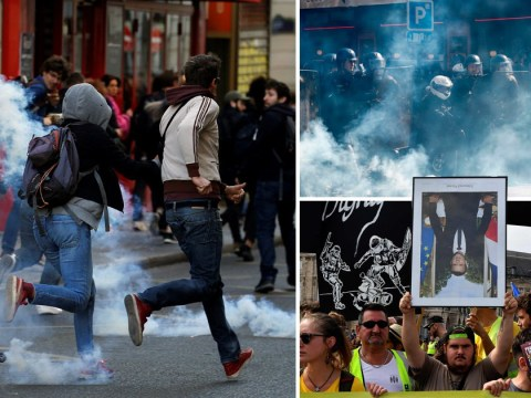 Tear gas fired by police at protesters as Paris protests spiral out of control