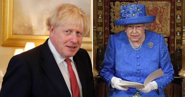 Caption: Boris Johnson to ram through Brexit deal by announcing it in Queen\'s speech (Picture: Reuters/Getty)