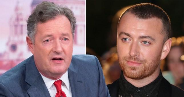 Piers Morgan and Sam Smith