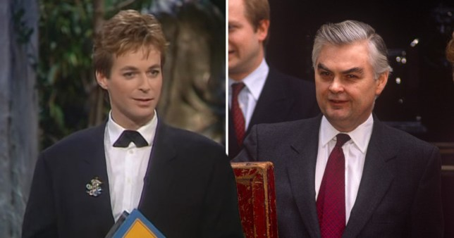 Julian Clary and Norman Lamont