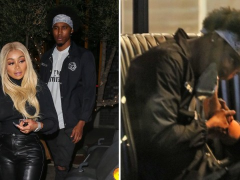 Toe jam, anyone? Blac Chyna gets her toes sucked on date with mystery new man