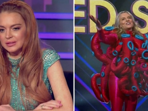 Fans think Lindsay Lohan's surprise at reveals on The Masked Singer Australia is her best acting work yet
