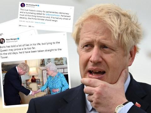 Piers Morgan says Boris 'lie' to the Queen is treason