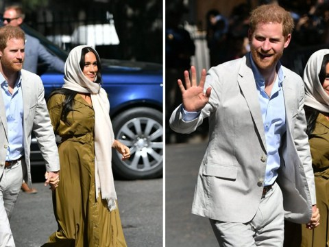 Meghan wears headscarf for visit to South Africa's oldest mosque