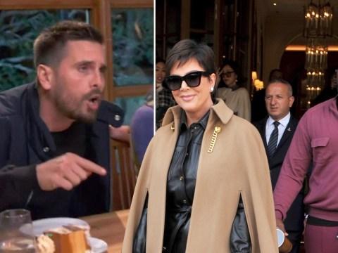 Kris Jenner and boyfriend Corey Gamble put 'smacking' drama behind them at Paris Fashion Week