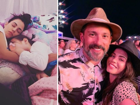 Jenna Dewan shares first glimpse of baby bump as she cuddles daughter with ex Channing Tatum