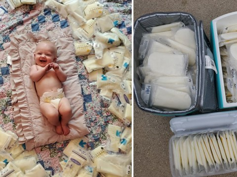 Mum who had to give up breastfeeding to save her sight receives 200 bags of donated breast milk