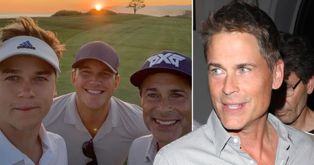 Rob Lowe and his two sons, Matthew and Johnny
