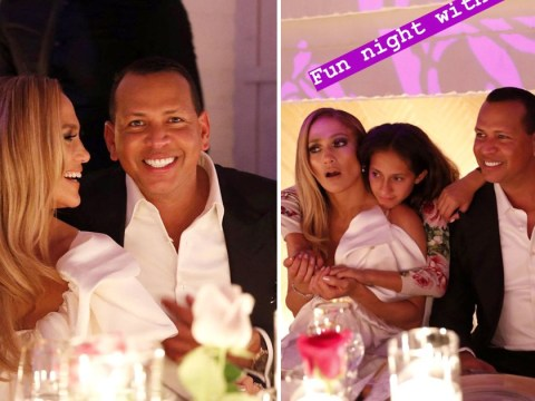 Jennifer Lopez and Alex Rodriguez celebrate engagement with daughters and celebrity friends
