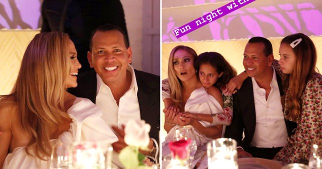 jennifer lopez, alexander rodriguez and daughters emme and emma