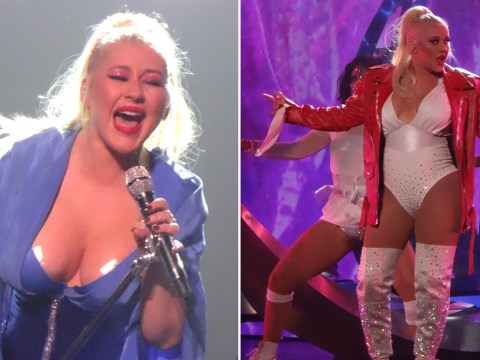 Christina Aguilera really puts her all into performance as she slays ahead of UK tour