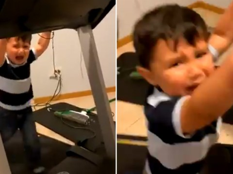Mum leaves toddler alone for 45 seconds to use toilet, finds him crying on a treadmill