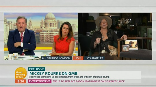 Mickey Rourke on GMB