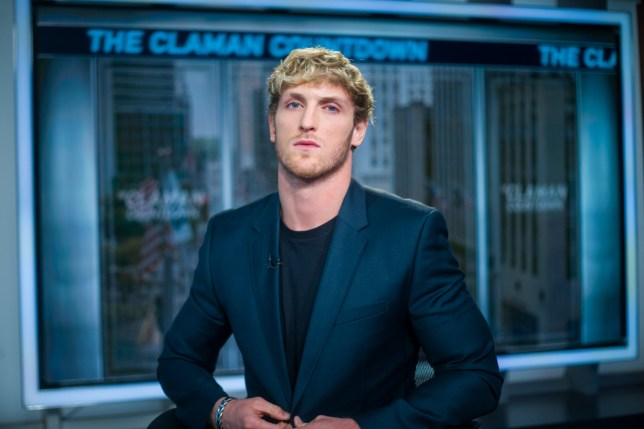 """NEW YORK, NEW YORK - JULY 22: American Internet personality, actor, director, and YouTuber Logan Paul appears on """"The Claman Countdown"""" with Liz Claman at Fox Business Network Studios on July 22, 2019 in New York City. (Photo by Steven Ferdman/Getty Images)"""