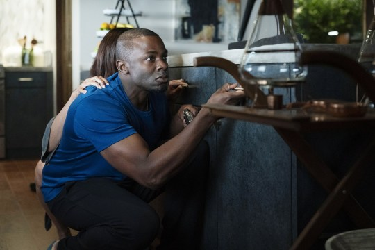 """THE PURGE -- """"This Is Not A Test"""" Episode 201 -- Pictured: Derek Luke as Marcus -- (Photo by: Alfonso Bresciani/USA Network/NBCU Photo Bank via Getty Images)"""