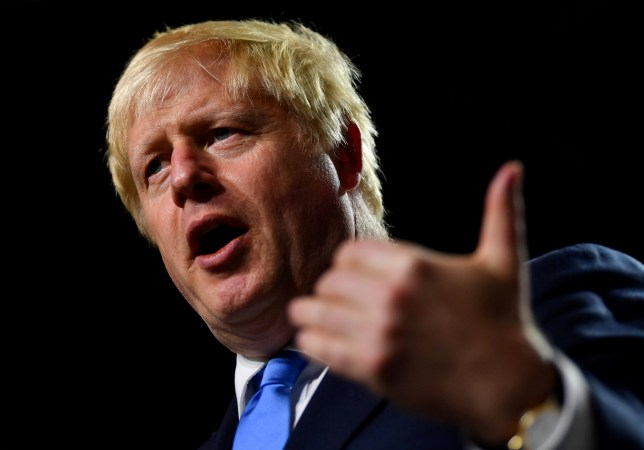 FILE PHOTO: Britain's Prime Minister Boris Johnson gestures during a news conference at the end of the G7 summit in Biarritz, France, August 26, 2019. REUTERS/Dylan Martinez/File Photo