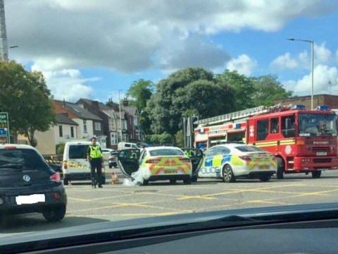 Screams heard after two men injured in suspected acid attack