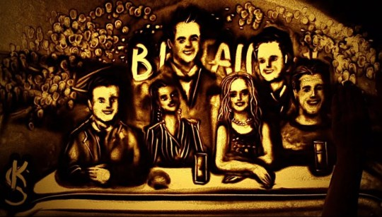 BGT sand artist makes Simon Cowell and judges out of sand