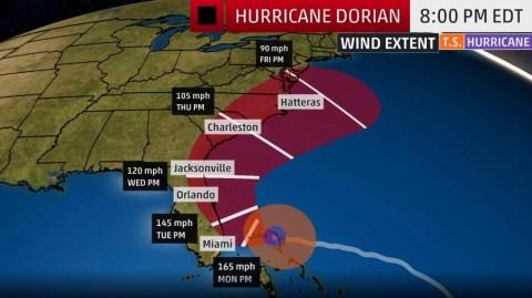 Hurricane Dorian: Florida man says military should drop ice