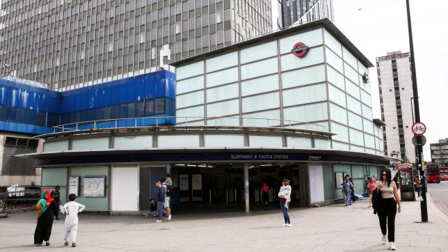 LONDON, UNITED KINGDOM - 2019/08/11: Exterior view of Elephant and Castle station in London. (Photo by Steve Taylor/SOPA Images/LightRocket via Getty Images)