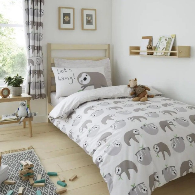 Dunelm launches super cute sloth themed bedroom collection