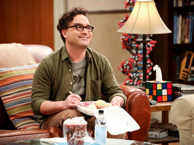 Leonard Hofstadter (Johnny Galecki) on the big bang theory