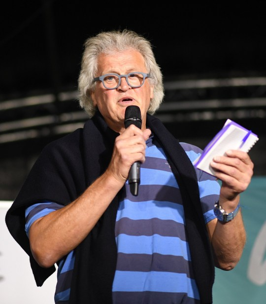 Founder and Chairman of Wetherspoon Tim Martin speaks during the Brexit Party's 'We Are Ready' event at Colchester United Football Club in Essex. PRESS ASSOCIATION Photo. Picture date: Monday September 2, 2019. See PA story POLITICS Brexit. Photo credit should read: Stefan Rousseau/PA Wire