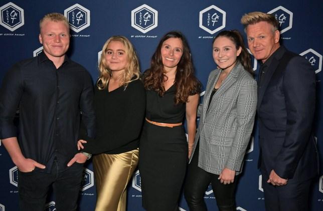 Jack Ramsay, Matilda Ramsay, Tana Ramsay, Megan Ramsay and Gordon Ramsay