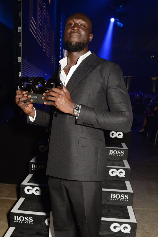 Mandatory Credit: Photo by Richard Young/REX (10377381bz) Stormzy GQ Men of the Year Awards, Dinner and Awards, Tate Modern, London, UK - 03 Sep 2019