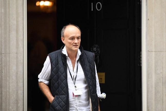 Dominic Cummings, special advisor to Prime Minister Boris Johnson leaves 10 Downing Street