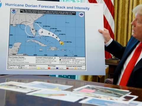 Donald Trump accused of drawing on Hurricane Dorian map with a Sharpie