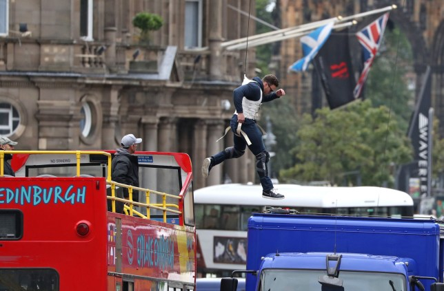 Fast and Furious 9 shoot in Edinburgh: Watch terrifying moment stuntman leaps off bus