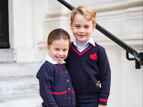 Official photo of Charlotte and George released for first day of school