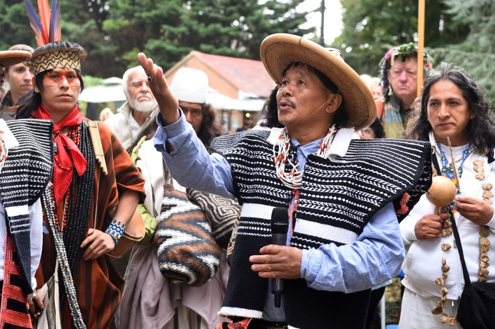 du Mishmi delegate Sipa Melo from India, in Canbury Park, Kingston, as representatives from indigenous communities around the world come together in London to call for increased protection of indigenous territories and for citizens to think about the type of future they envisage for the next generation. PA Photo. Picture date: Saturday September 7, 2019. The summit hosted by Flourishing Diversity runs from September 7-11 and welcomes indigenous representatives to share their wisdom and traditions many of which could hold the answers to the environmental crisis.