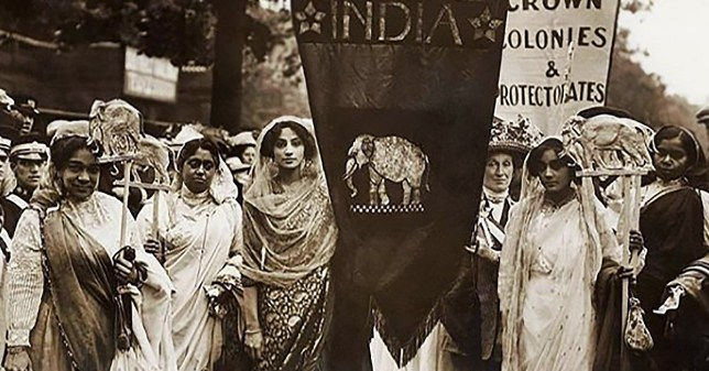 Picture: British Library/Sumita Mukherjee, Diversity and the British female Suffrage movement METROGRAB ref: https://www.instagram.com/p/B2BEp_8gKq7/?utm_source=ig_embed