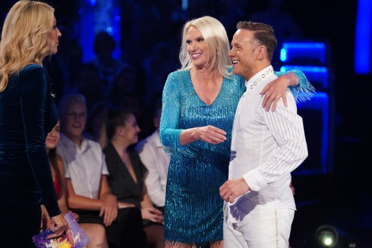 EMBARGOED TO 2040 SATURDAY SEPTEMBER 7 For use in UK, Ireland or Benelux countries only Undated BBC handout photo of Tess Daly, Anneka Rice and Kevin Clifton during the return of the BBC One show, Strictly Come Dancing. PA Photo. Issue date: Saturday September 7, 2019. See PA story SHOWBIZ Strictly. Photo credit should read: Kieron McCarron/BBC/PA Wire NOTE TO EDITORS: Not for use more than 21 days after issue. You may use this picture without charge only for the purpose of publicising or reporting on current BBC programming, personnel or other BBC output or activity within 21 days of issue. Any use after that time MUST be cleared through BBC Picture Publicity. Please credit the image to the BBC and any named photographer or independent programme maker, as described in the caption.WARNING: Embargoed for publication until 20:40:00 on 07/09/2019 - Programme Name: Strictly Come Dancing 2019 - TX: n/a - Episode: Strictly Come Dancing 2019 - Launch Show (No. n/a) - Picture Shows: **EMBARGOED FOR PUBLICATION UNTIL 20:40 HRS ON SATURDAY 7TH SEPTEMBER 2019** Tess Daly, Anneka Rice, Kevin Clifton - (C) BBC - Photographer: Kieron McCarron