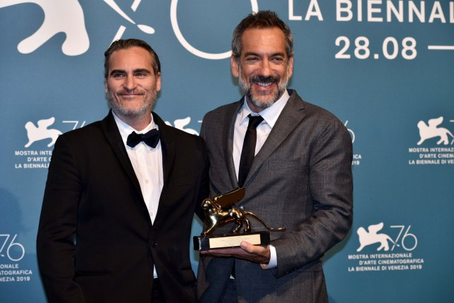 Todd Phillips Joaquin Phoenix at Venice Film Festival