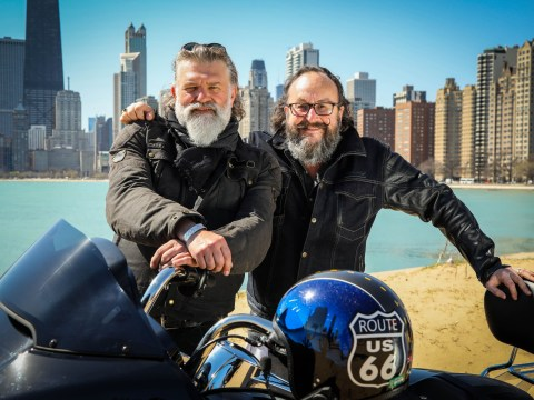 When is Hairy Bikers: Route 66 on TV and how many miles is the famous US highway?